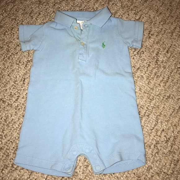 efdfa30d7 Ralph Lauren One Pieces | Baby Blue Polo Onesie 3 Months | Poshmark